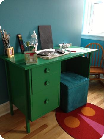 Sarah's desk