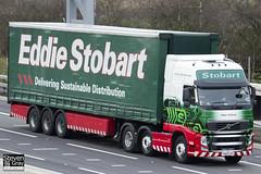 Volvo FH 460 6x2 Tractor - PX60 CVD - Helen Victoria - Green & Red - 2010 - Eddie Stobart - M1 J10 Luton - Steven Gray - IMG_0234