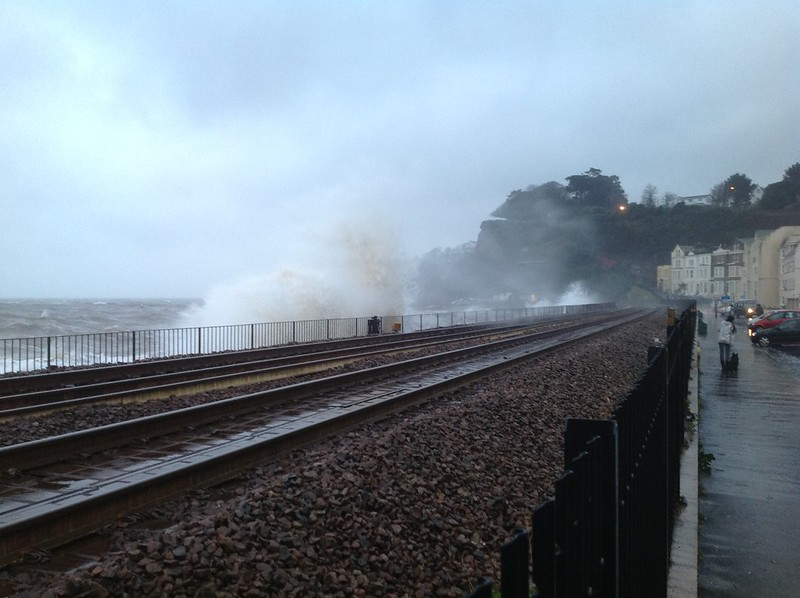 The waves at Dawlish - Just before the real storm kicks in