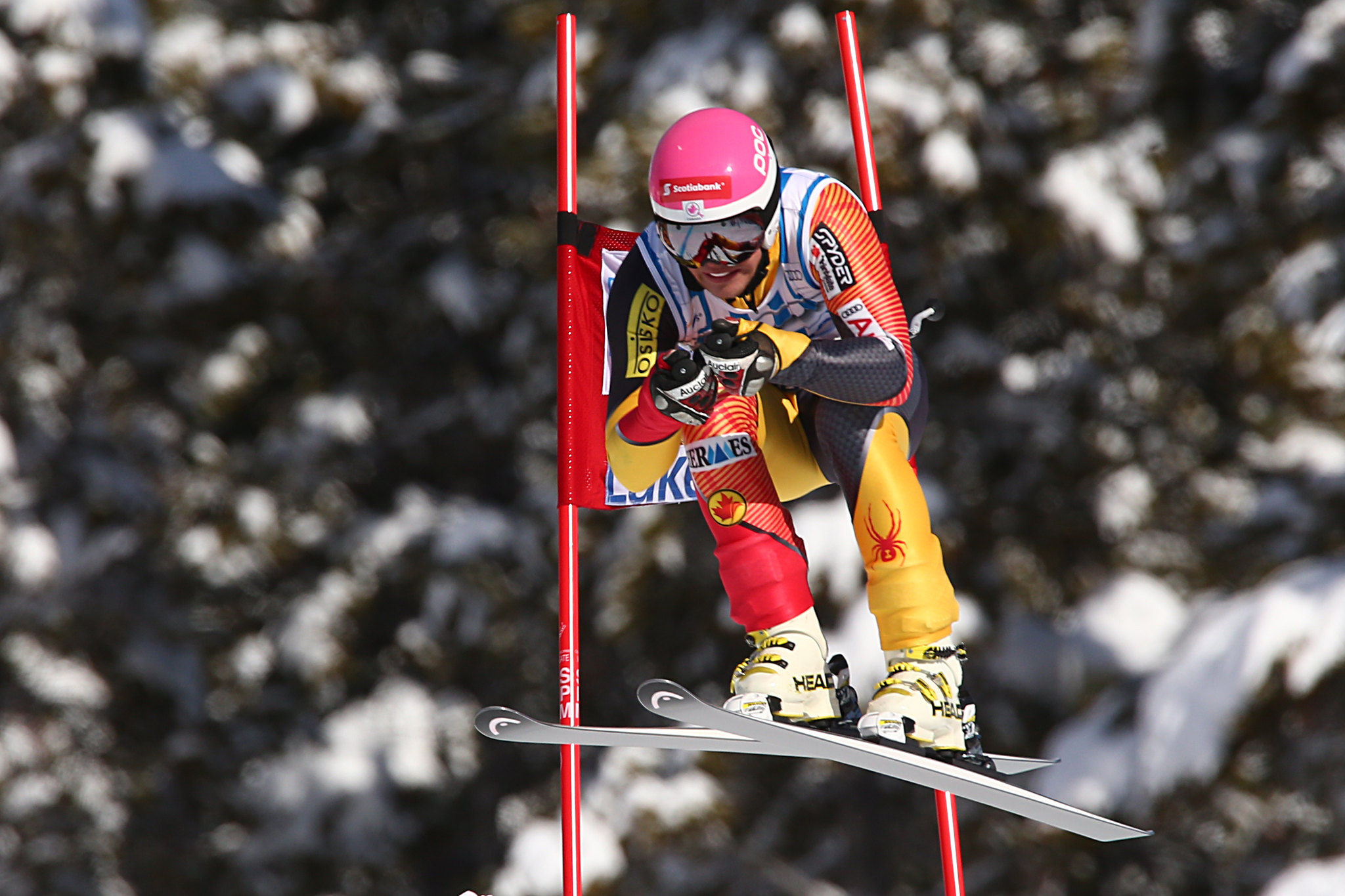 Ben Thomsen during World Cup downhill in Lake Louise.