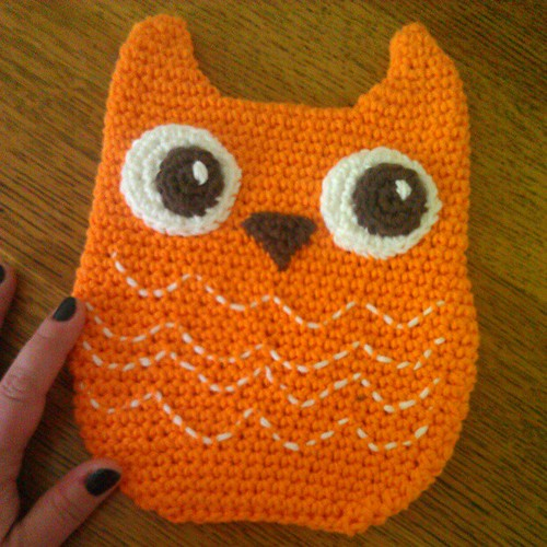 An owly hot pad for @secretagentjo.