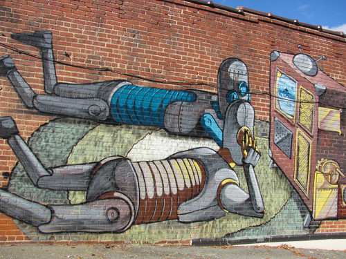 Robot Space Creature Mural