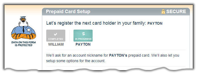 Register Prepaid Card