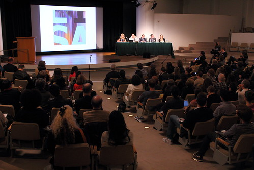 The Collecting New Media Art panel at the Guggenheims Peter B. Lewis Theater