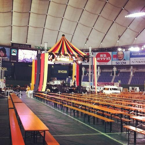 スーパーオクトーバーフェスト会場(東京ドーム)は現在こんな感じだそう!