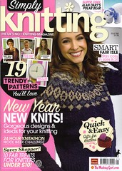 'SIBOL' is featured in 'Simply Knitting' Issue 101. January 2013.