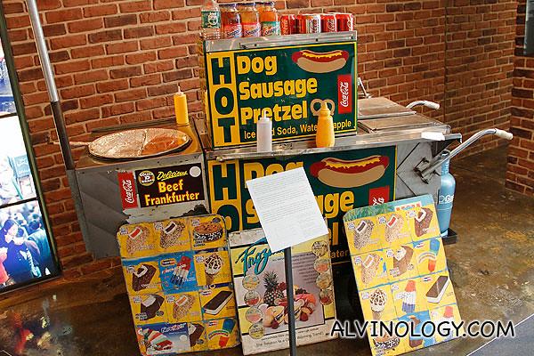 An American hotdog stand