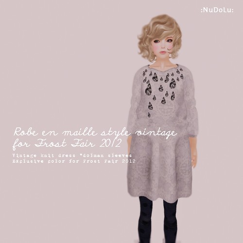 NuDoLu Robe en maille style vintage Frost AD