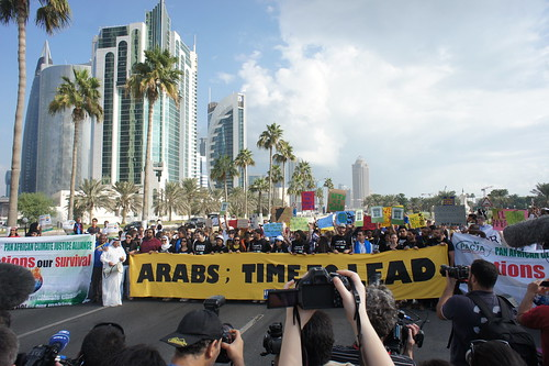 Arabs; take the lead! Qatar climate march