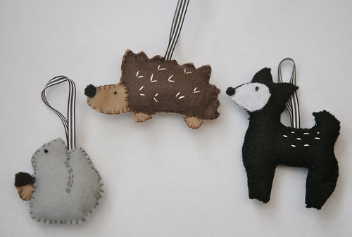 Woodland Animal Felt Ornaments