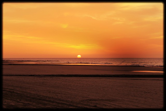 Sunset in Blankenberge