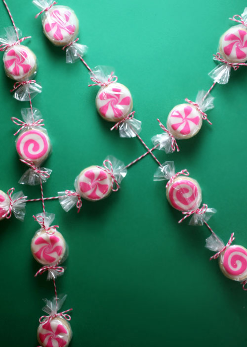 Peppermint Cookie Garland