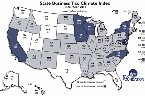States by tax climate