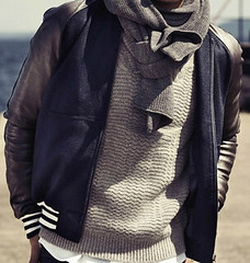 brown(0.0), collar(0.0), overcoat(0.0), hood(0.0), zipper(0.0), textile(1.0), leather jacket(1.0), wool(1.0), clothing(1.0), sleeve(1.0), leather(1.0), outerwear(1.0), jacket(1.0), coat(1.0),
