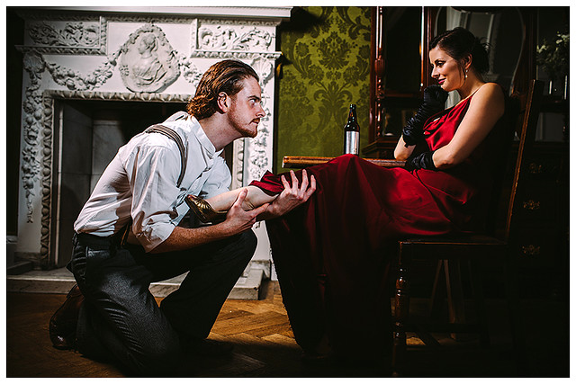 Andy Curry and Gemma Sharp in Miss Julie - Hedgepig Theatre