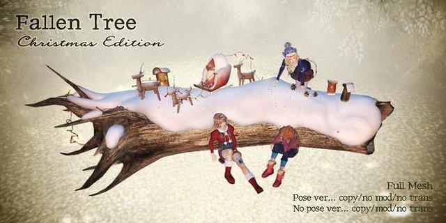 fallen tree Christmas