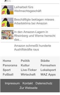 Neues WAZ/m.derwesten.de-Mobilportal: Artikelende/Seitenfuß