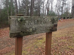 Dyer Mountain Cemetery Sign