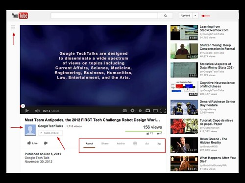 New Youtube Interface 121207