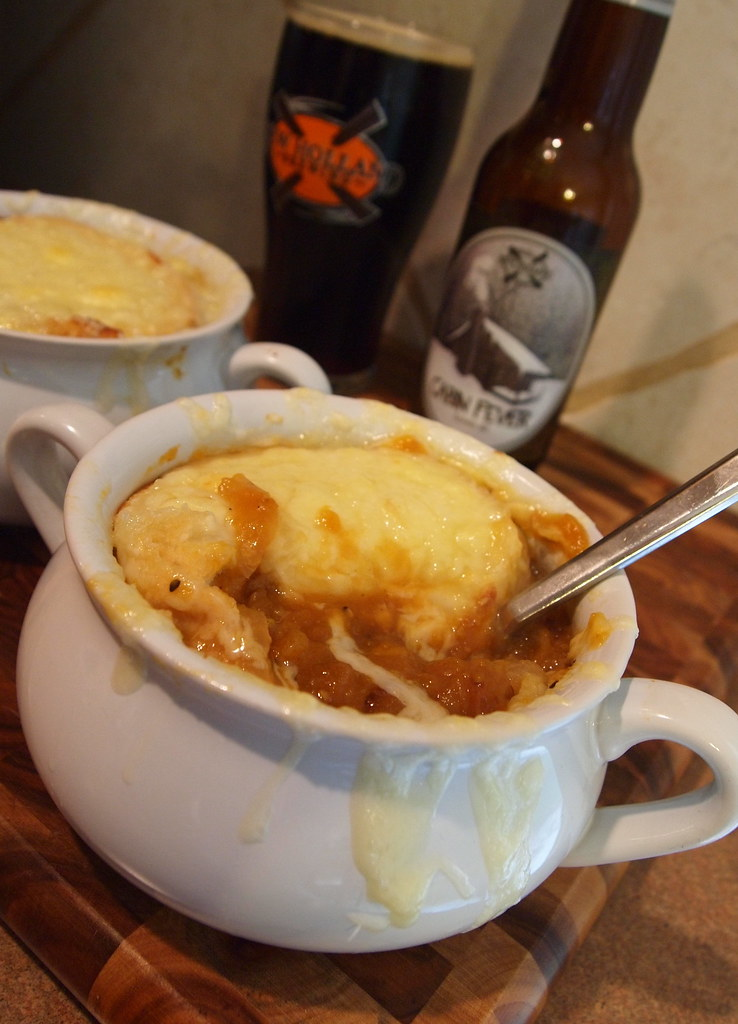 French onion soup gets not one, but two special twists in this recipe ...