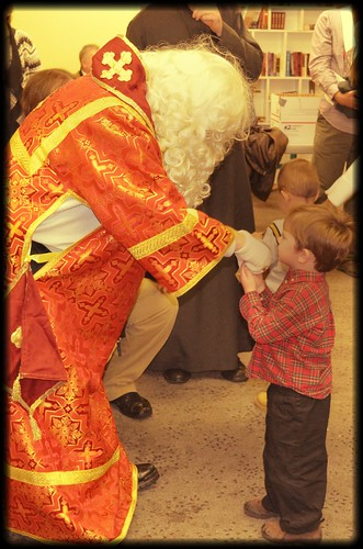 Gregs gets a blessing from St Nicholas