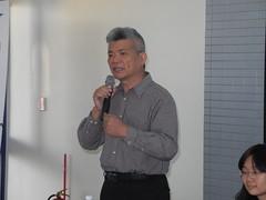 彰化區漁會秘書洪一平代表漁民發表宣言。
