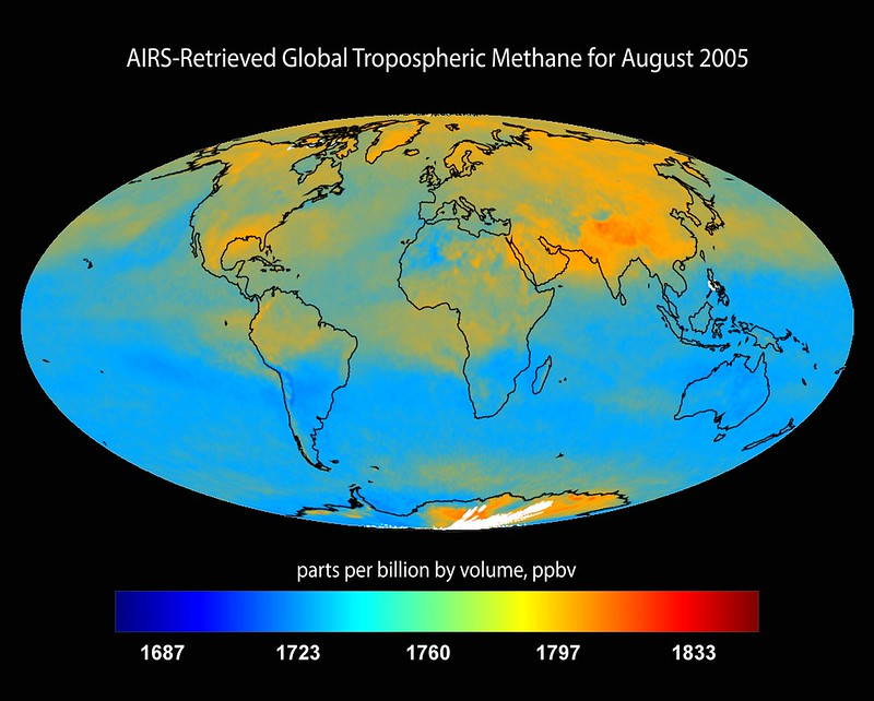 Global Tropospheric Methane for August 2005