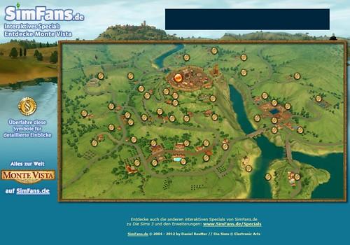 SimFans39 Interactive Monte Vista Map SimsVIP