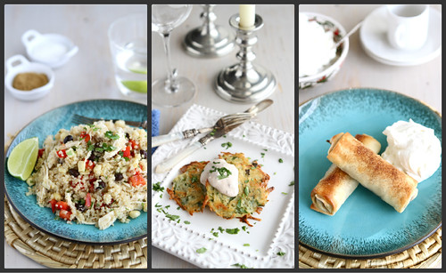 Latkes, Quinoa Salad & Apple Pie Rolls