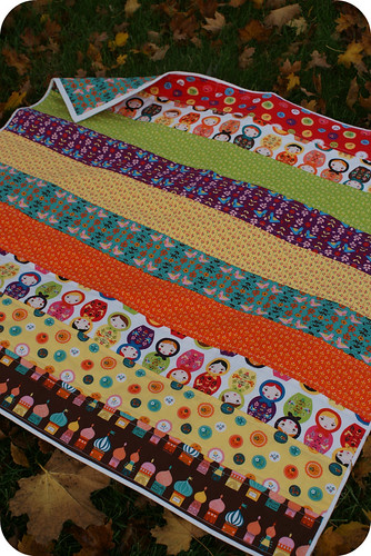 easiest baby quilt EVER.