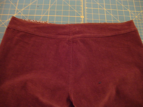 J Stern Designs Jeans: brown corduroy edition, in progress