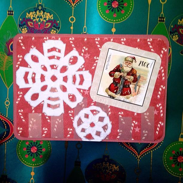 #snowflake #washitape #christmastree #santaclaus #postcard #snailmail