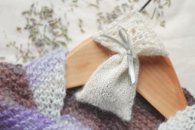 knit lavender sachet