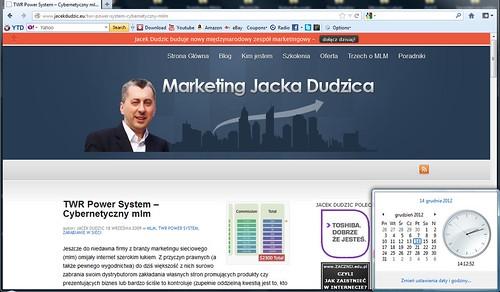 (źródło: screen strony http://www.jacekdudzic.eu/twr-power-system-cybernetyczny-mlm)