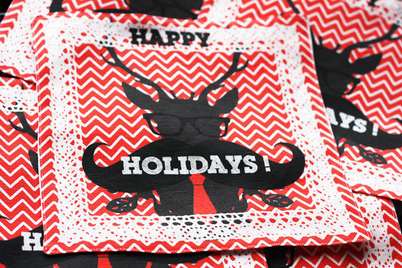 Holidays geekery napkins
