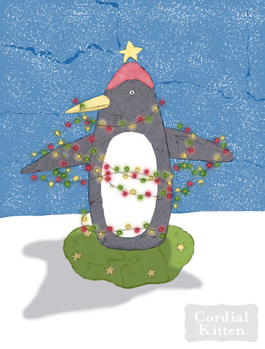 2012 christmas penguin colored web