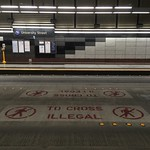 TO CROSS ILLEGAL