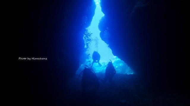 朝一で洞窟探検♪