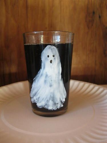 Fantôme sur un verre