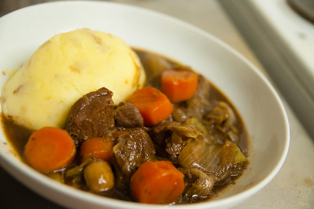 Stout Beef Stew, served with creamy mash potato. | Flickr - Photo ...