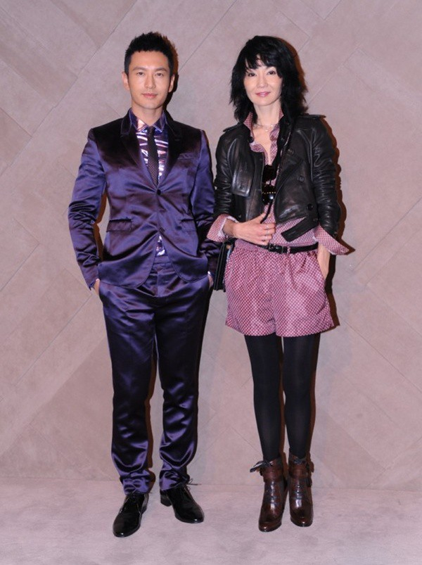 9 Huang Xaio Ming & Maggie Cheung at the Burberry event in Pacific Place Hong Kong