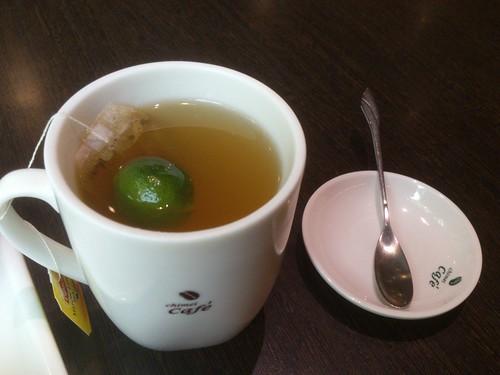 工研院的附餐-桔子茶。