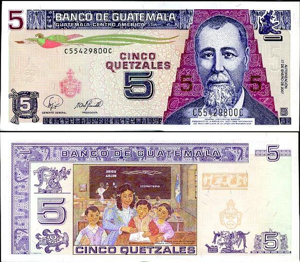 5 Quetzal Guatemala 2007