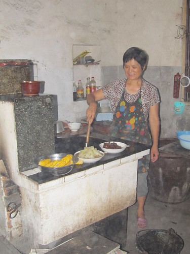My Chinese mother-in-law in the kitchen