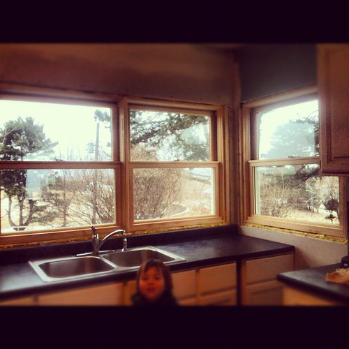 New windows in the kitchen!!