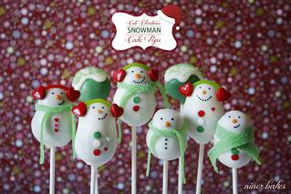 Süße Schneemann Familie - Schneemann Winter Cake Pops - Weihnachts Cake Pops - niner bakes bei Flickr