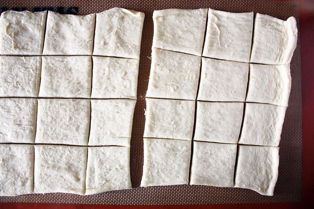 dough squares.