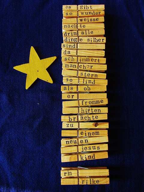 Rilke-Klammern für den Adventskalender