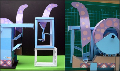 "Modifikation am Paper model "" Nessie"""