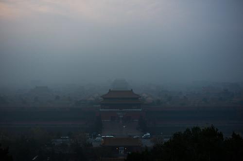 china leica morning fog beijing 北京 中国 forbiddencity m9 palacemuseum northerngate summiluxmf1435asph architecturemystery notgear